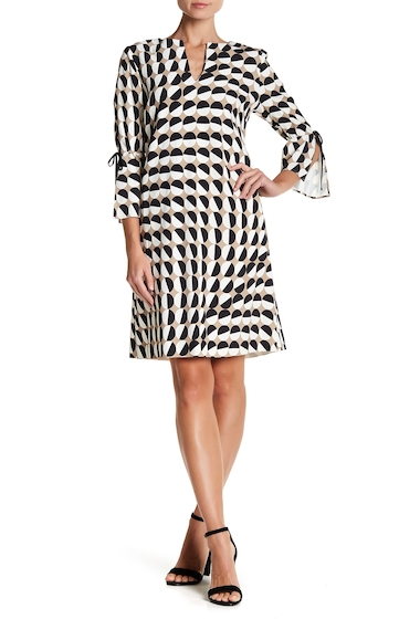 Imbracaminte Femei Lafayette 148 New York Deandra Split Sleeve Shift Dress BLACK MULTI