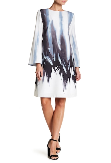 Imbracaminte Femei Lafayette 148 New York Kalitta Abstract Shift Dress WHITE MULTI