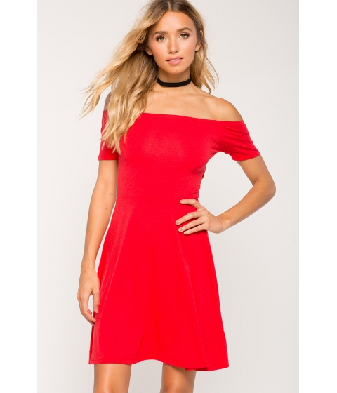 Imbracaminte Femei CheapChic Off Shoulder Flare Dress Red