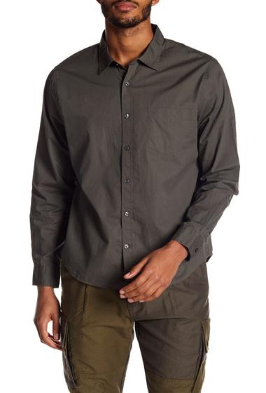 Imbracaminte Barbati Vince Garment Washed Shirt OLIVE