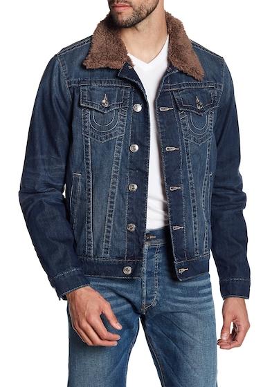Imbracaminte Barbati True Religion Fleece Lined Denim Jacket EIFM STAND