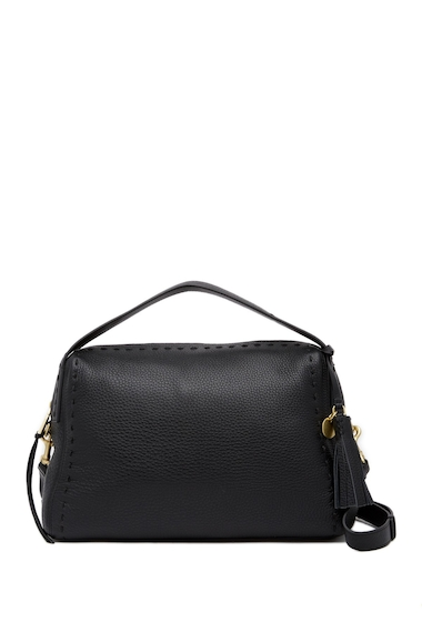 Genti Femei Cole Haan Ivy Pic-Stitch Collection Leather Satchel BLACK