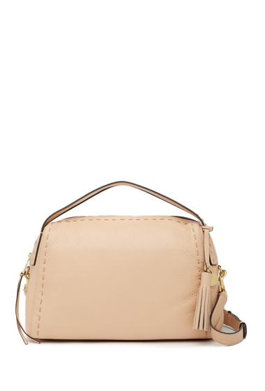 Genti Femei Cole Haan Ivy Pic-Stitch Collection Leather Satchel NUDE