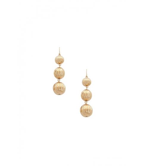 Bijuterii Femei Forever21 Carved Bauble Drop Earrings GOLD