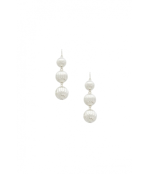 Bijuterii Femei Forever21 Carved Bauble Drop Earrings SILVER