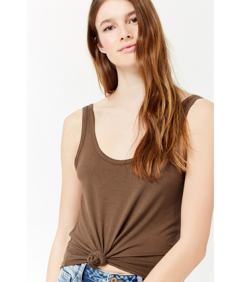 Imbracaminte Femei Forever21 Scoop Neck Tank Top OLIVE