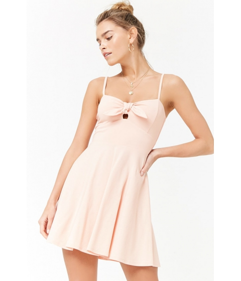 Imbracaminte Femei Forever21 Tie-Front Cami Skater Dress LIGHT PINK