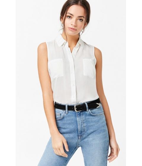 Imbracaminte Femei Forever21 Sleeveless Pocket Shirt IVORY