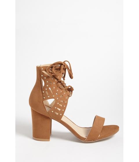 Incaltaminte Femei Forever21 Yoki Shoes Studded Faux Suede Heels RUST