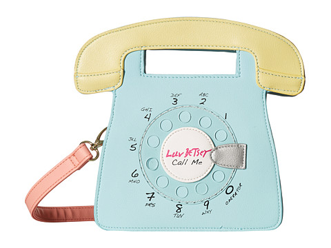Genti Femei Luv Betsey by Betsey Johnson Ringz PVC Kitch Phone Crossbody Mint