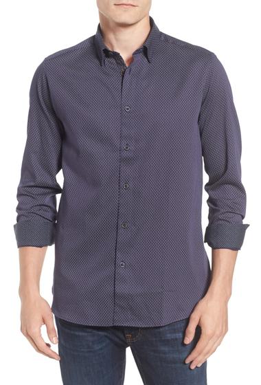 Imbracaminte Barbati Ted Baker London Modern Slim Fit Print Sport Shirt NAVY