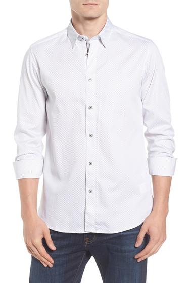 Imbracaminte Barbati Ted Baker London Modern Slim Fit Print Sport Shirt WHITE
