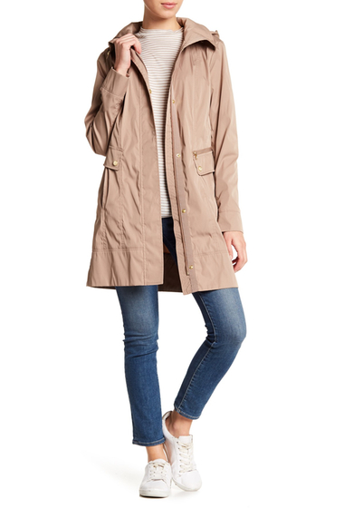 Imbracaminte Femei Cole Haan Double Face Packable Rain Jacket CHAMPAGNE