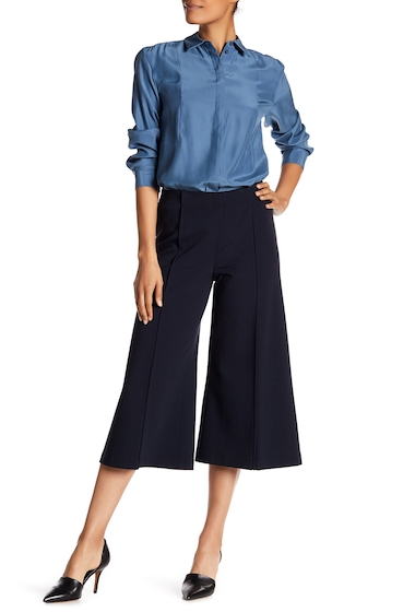 Imbracaminte Femei Lafayette 148 New York Thompkins Wool Blend Culotte Trousers INK