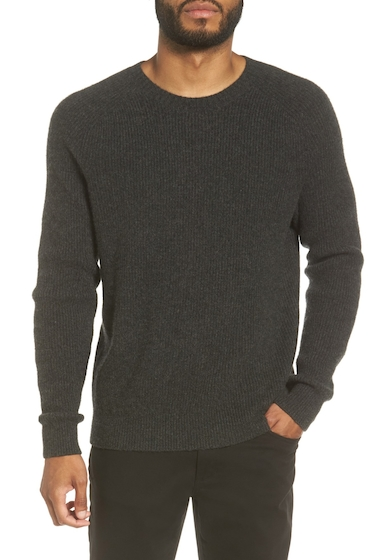 Imbracaminte Barbati Vince Ribbed Wool Cashmere Raglan Sweater H CARBON