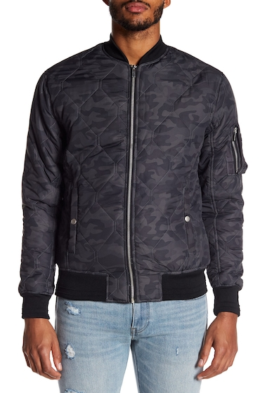 Imbracaminte Barbati Sovereign Code Astro Quilted Bomber Jacket BLACK CAMO