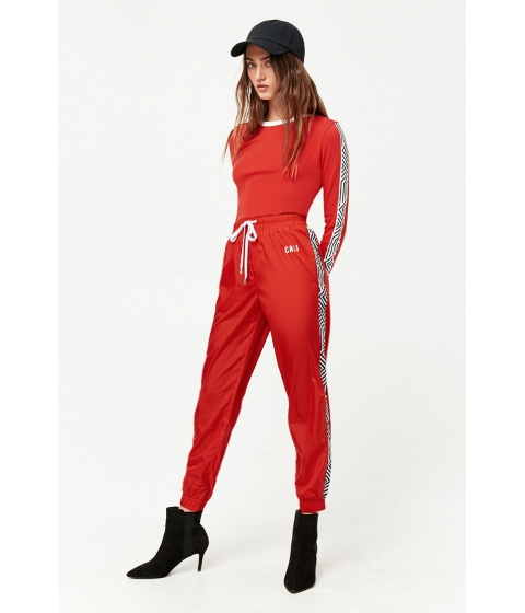 Imbracaminte Femei Forever21 Striped Cali Joggers RED