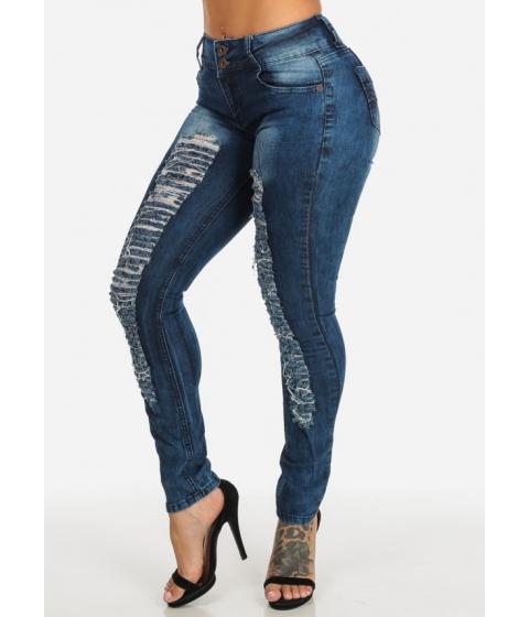 Imbracaminte Femei CheapChic Brazilian Design Mid Rise 2-Button Trendy Skinny Denim Jeans Multicolor