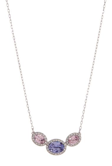 Bijuterii Femei Swarovski Christie Faceted Oval Multicolor Crystal Halo Set Pendant Necklace MULTI