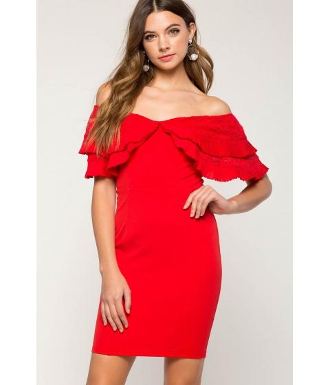 Imbracaminte Femei CheapChic Isabella Pleat Flounce Dress Red