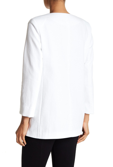 Imbracaminte Femei Lafayette 148 New York Pria Structured Woven Coat WHITE