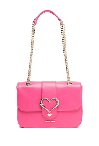 Genti Femei LOVE Moschino Pink Heart Accent Crossbody Bag PINK