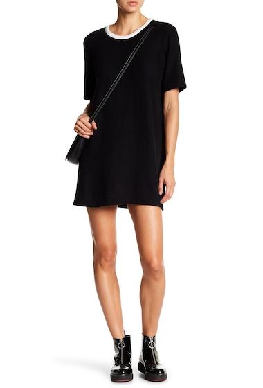 Imbracaminte Femei Drifter Crew Neck Knit Midi Dress BLK-WHITE