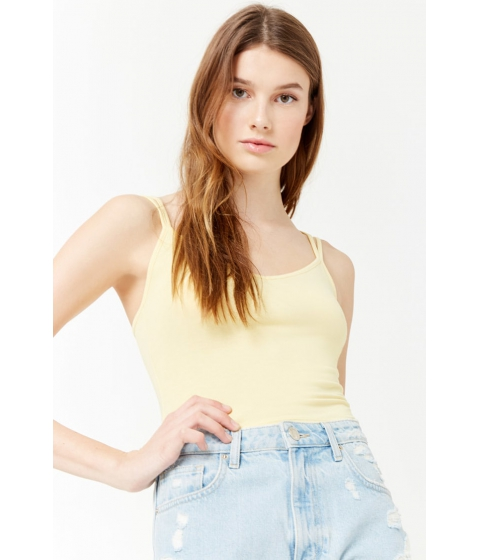 Imbracaminte Femei Forever21 Cropped Cami Tank Top LIGHT YELLOW