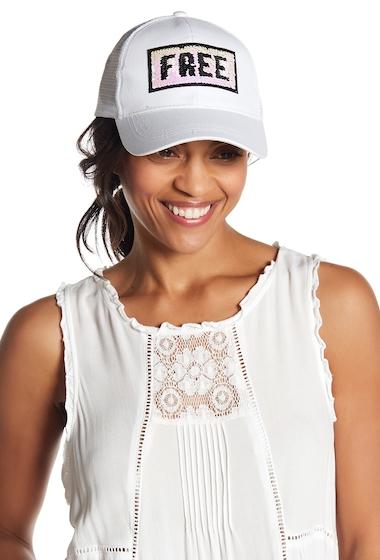 Accesorii Femei David Young Wild Free Sequin Trucker Hat WHITE