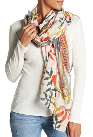 Accesorii Femei 14th Union Painterly Floral Scarf TEAL COMBO