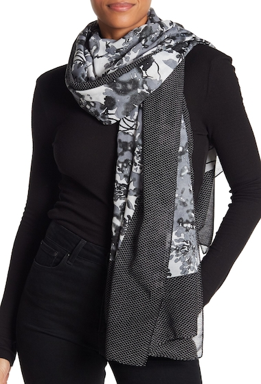 Accesorii Femei 14th Union Floral Dotted Scarf BLACK COMBO