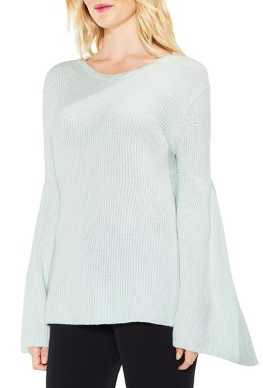 Imbracaminte Femei Vince Camuto All Over Rib Bell Sleeve Sweater LT AQUA MI