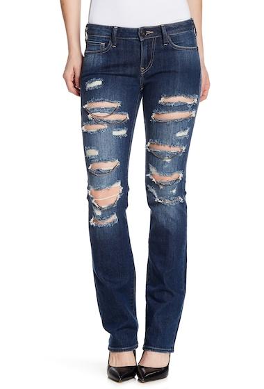 Imbracaminte Femei True Religion Billie Destroyed Chain Straight Leg Jeans EIVD CHAIN