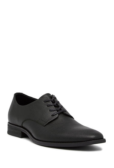 Incaltaminte Barbati Calvin Klein Ramses Tumbled Leather Derby BLACK