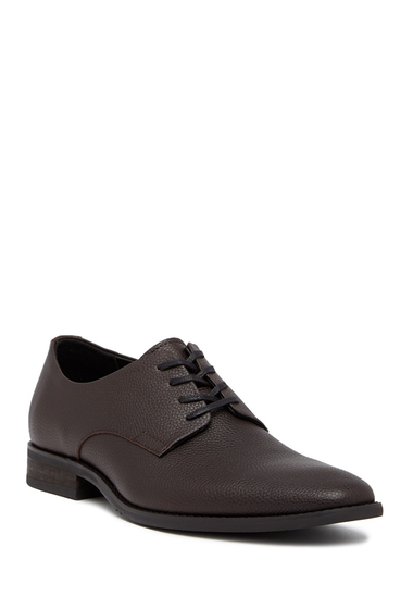 Incaltaminte Barbati Calvin Klein Ramses Tumbled Leather Derby DARK BROWN