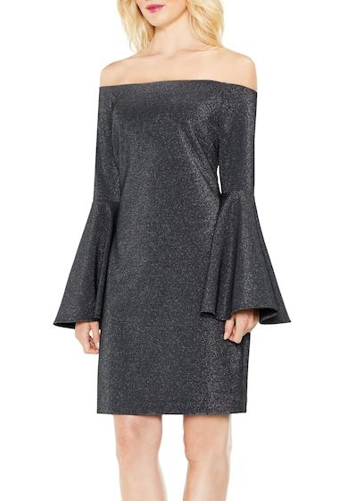 Imbracaminte Femei Vince Camuto Off-the-Shoulder Metallic Knit Dress RICH BLACK