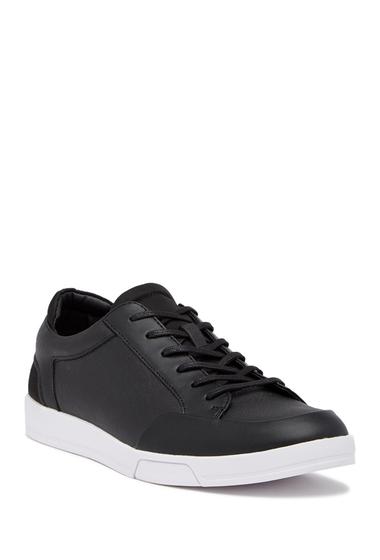 Incaltaminte Barbati Calvin Klein Baldwin Brushed Saffiano Leather Sneaker BLACK