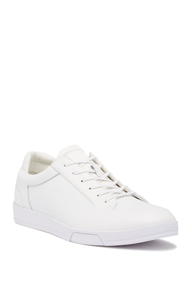 Incaltaminte Barbati Calvin Klein Baldwin Brushed Saffiano Leather Sneaker WHITE