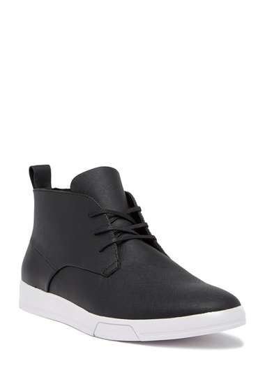 Incaltaminte Barbati Calvin Klein Bain Saffiano Chukka Sneaker BLACK