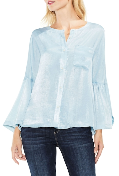 Imbracaminte Femei Two by Vince Camuto Bell Sleeve Satin Shirt SOFT SKIES