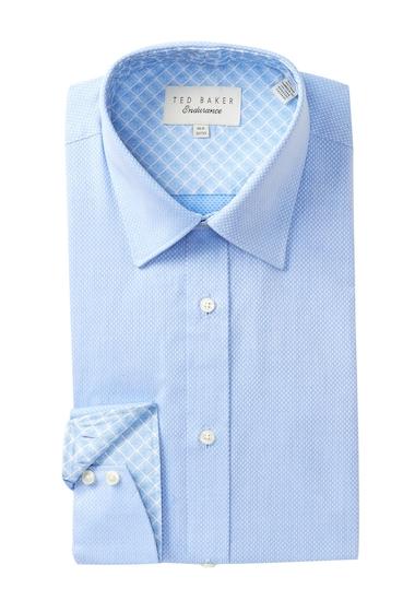 Imbracaminte Barbati Ted Baker London Textured Solid Trim Fit Dress Shirt BLUE
