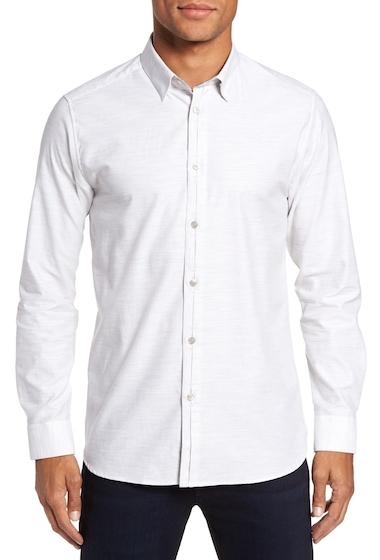 Imbracaminte Barbati Ted Baker London Annisley Modern Slim Fit Sport Shirt GREY MARL