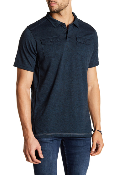 Imbracaminte Barbati Burnside Short Sleeve Woven Polo H-NAVY
