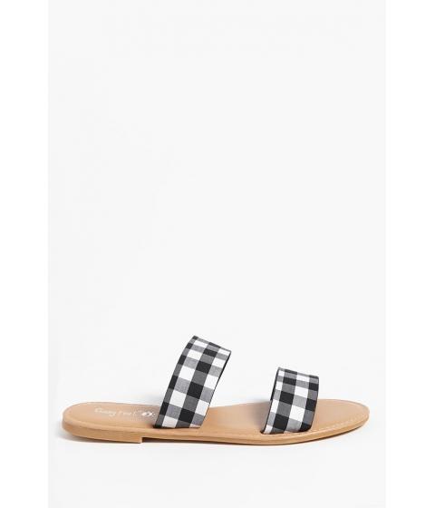 Incaltaminte Femei Forever21 Polka Dot Slide Sandals BLACKWHITE