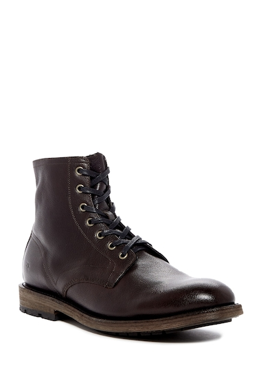 Incaltaminte Barbati Frye Bowery Lace-Up Leather Boot DARK BROWN