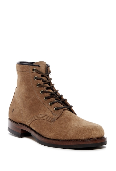 Incaltaminte Barbati Frye John Addison Suede Lace-Up Boot FATIGUE