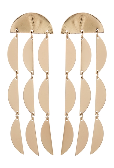 Bijuterii Femei Spring Street Half-Moon Drop Earrings GOLD