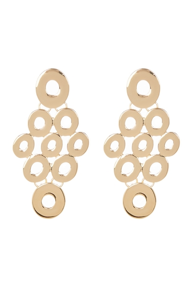 Bijuterii Femei Spring Street Circle Chandelier Drop Earrings GOLD