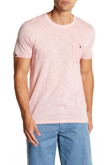 Imbracaminte Barbati Ted Baker London Print Pocket Tee - Regular CORAL