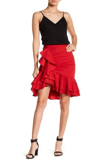 Imbracaminte Femei Socialite Cascade Ruffle Trumpet Skirt RED